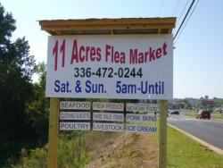 11 Acre Flee Market Thomasville NC Sign